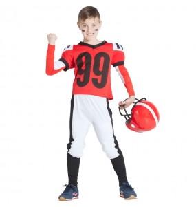 Déguisement Football Américain Rouge garçon
