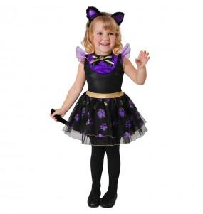 Déguisement chat violet bébé
