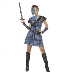 Déguisement Guerrière Écossaise bleue femme