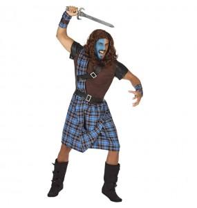 Déguisement Guerrier écossais bleu homme