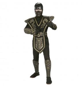Déguisement Guerrier Ninja doré garçon