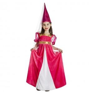Déguisement Fée Médiévale rose fille