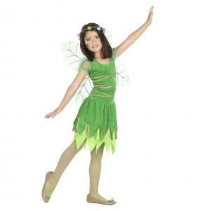 Déguisement Fée verte avec ailes fille
