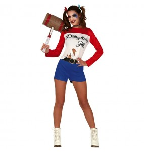 Déguisement Harley Quinn bande dessinée femme