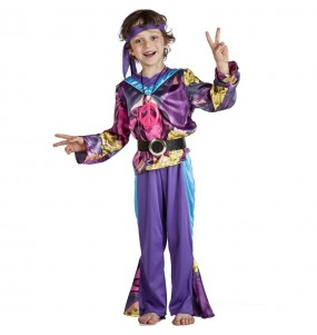 Déguisement Hippie pourpre garçon