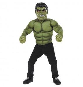 Déguisement Hulk poitrine musclée garçon