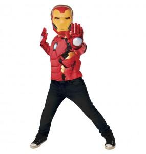 Déguisement Iron Man poitrine musclée garçon