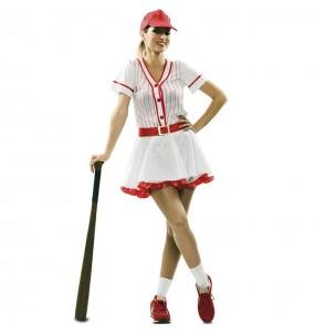 Déguisement Joueuse baseball rétro femme
