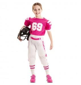 Déguisement Football Américain rose fille