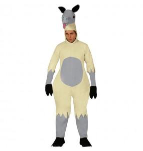 Déguisement Lama Blanc adulte