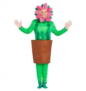 Déguisement Pot de fleur avec tournesol homme