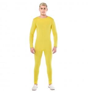 Déguisement Justaucorps jaune spandex homme