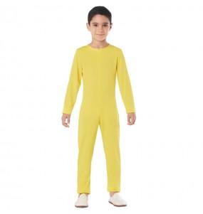 Déguisement Justaucorps jaune spandex enfant