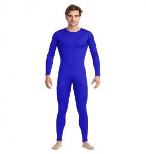 Déguisement Justaucorps bleu spandex homme