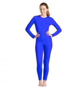 Déguisement Justaucorps bleu spandex femme