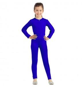 Déguisement Justaucorps bleu spandex fille
