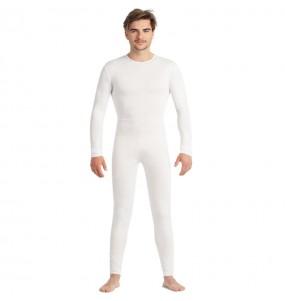 Déguisement Justaucorps blanc spandex homme