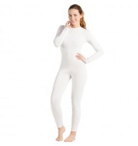 Déguisement Justaucorps blanc spandex femme