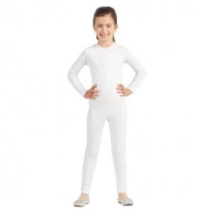 Déguisement Justaucorps blanc spandex fille
