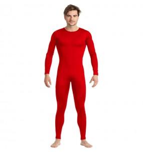 Déguisement Justaucorps rouge spandex homme