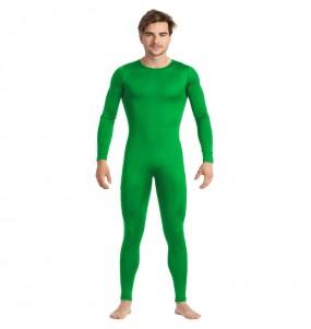 Déguisement Justaucorps vert spandex homme