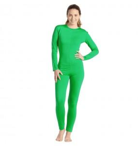 Déguisement Justaucorps vert spandex femme