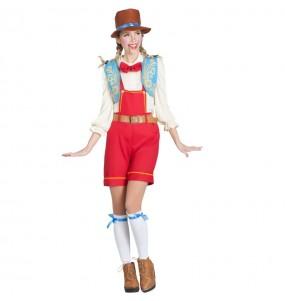 Déguisement Pinocchio marionnette femme