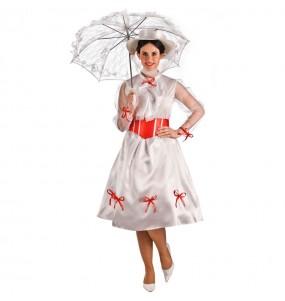 Déguisement Mary Poppins Blanc femme