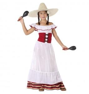 Déguisement Mexicaine blanche fille