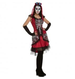 Déguisement Squelette Méxicaine Katrina Adulte