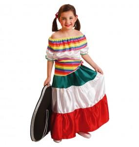 Déguisement Méxicaine Blanche fille