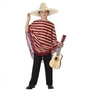 Déguisement Mexicain rayé garçon