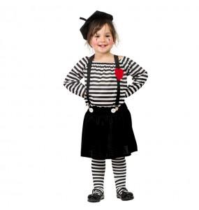 Déguisement Mime Clown pour fille