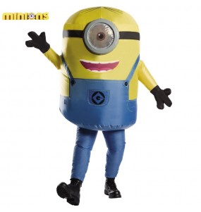 Déguisement Minion Stuart gonflable adulte