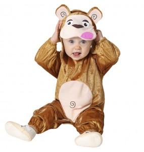 Déguisement Singe marron bébé