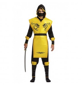 Déguisement Ninja Jaune pour homme