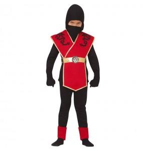 Déguisement Ninja rouge garçon