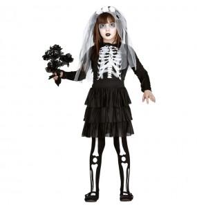 Déguisement Mariée squelette zombie fille