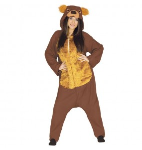 Déguisement Ours marron Kigurumi adulte