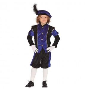 Déguisement Page Royale bleu enfant