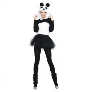 Déguisement Panda avec tutu femme