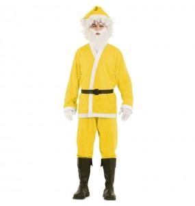 Déguisement Père Noël Jaune adulte
