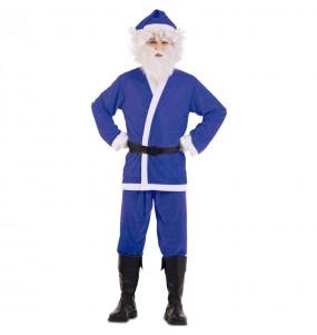 Déguisement Père Noël Bleu adulte