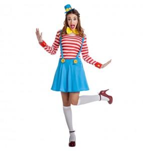 Déguisement Clown femme avec bretelles