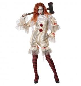 Déguisement Clown sanglante femme