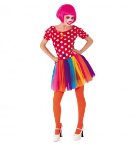 Déguisements Clown Tulle Multicolore femme
