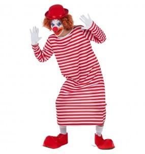 Déguisement Clown à Rayures Blanches et Rouges pour homme