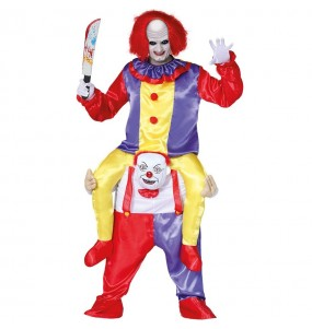 Déguisement Porte Moi Clown maléfique adulte
