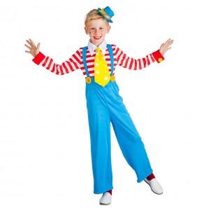 Déguisement Clown garçon avec bretelles