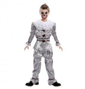 Déguisement Clown Diabolique gris garçon